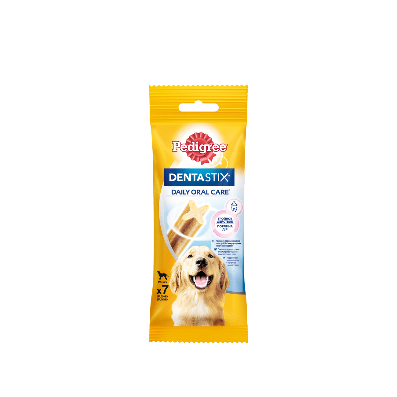 Pedigree DentaStix Лакомство для собак крупных пород более 25кг, 270г